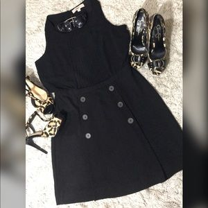 LOFT DRESS WITH SHEER TOP